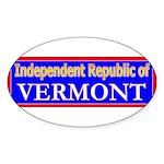 Vermont-2 Oval Sticker (50 pk)