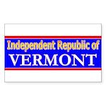 Vermont-2 Rectangle Sticker