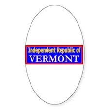 Vermont-2 Oval Decal