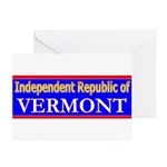 Vermont-2 Greeting Cards (Pk of 20)