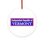 Vermont-2 Ornament (Round)
