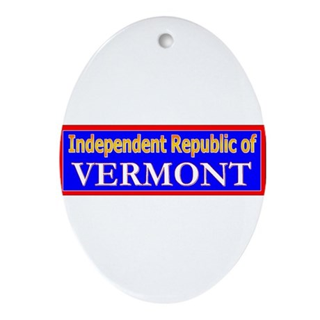 Vermont-2 Oval Ornament