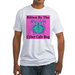 Cyber Cafe Bug Fitted T-Shirt