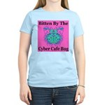 Cyber Cafe Bug Women's Pink T-Shirt