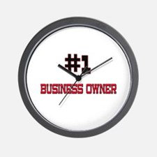 Number 1 BUSINESS OWNER Wall Clock