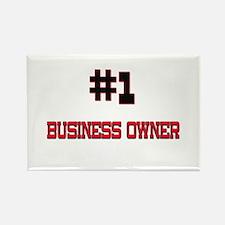 Number 1 BUSINESS OWNER Rectangle Magnet