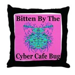 Cyber Cafe Bug Throw Pillow