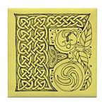 Celtic Letter F Tile Coaster