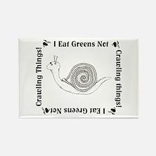 Vegetarian Snail Rectangle Magnet