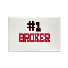 Number 1 BROKER Rectangle Magnet