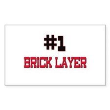 Number 1 BRICK LAYER Rectangle Decal