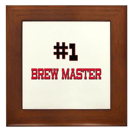 Number 1 BREW MASTER Framed Tile