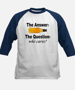 Beer: The Answer Kids Baseball Jersey