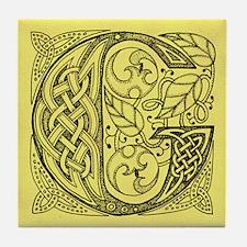 Celtic Letter G Tile Coaster