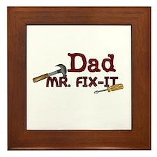Mr. Fix It Dad Framed Tile