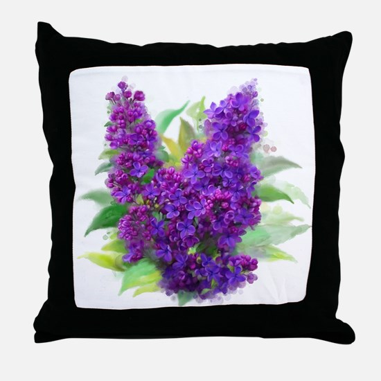 Funny Purple flowers Throw Pillow