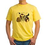 Six Pigeons Yellow T-Shirt