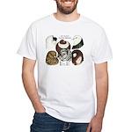 Six Pigeons White T-Shirt
