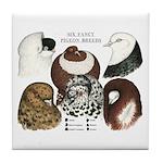 Six Pigeons Tile Coaster