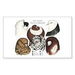 Six Pigeons Rectangle Sticker