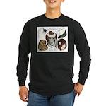 Six Pigeons Long Sleeve Dark T-Shirt