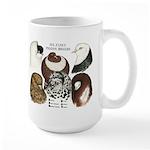 Six Pigeons Large Mug