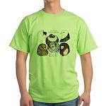 Six Pigeons Green T-Shirt