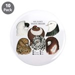 """Six Pigeons 3.5"""" Button (10 pack)"""