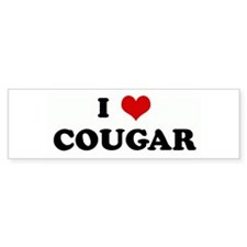 I Love COUGAR Bumper Bumper Sticker