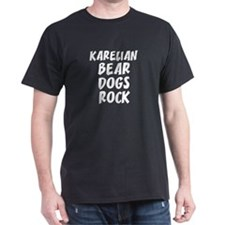 KARELIAN BEAR DOGS ROCK Black T-Shirt