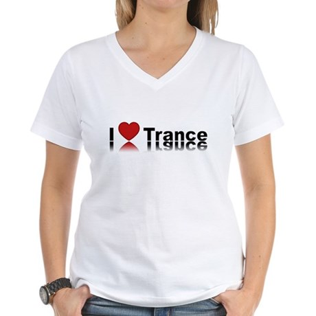 I Love Trance Women's V-Neck T-Shirt