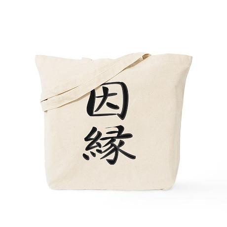 Karma - Kanji Symbol Tote Bag