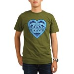 Adanvdo Heartknot Organic Men's T-Shirt (dark)
