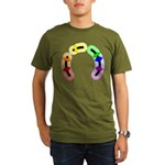 Gay Morse Arc Organic Men's T-Shirt (dark)