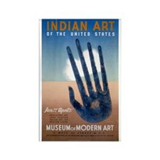 Indian Art Rectangle Magnet