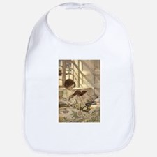Vintage Books in Winter, Child Reading Bib