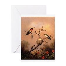Hummingbird valentines Greeting Card