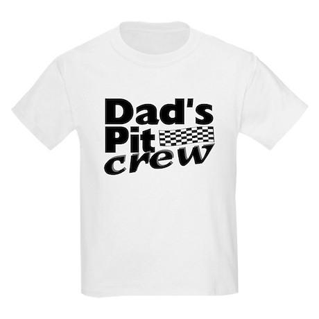 Dad's Pit Crew Kids Light T-Shirt