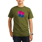 Flying Bi Pride Organic Men's T-Shirt (dark)