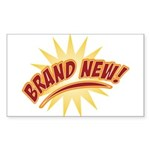 Brand New Rectangle Sticker 50 pk)