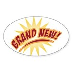 Brand New Oval Sticker (10 pk)