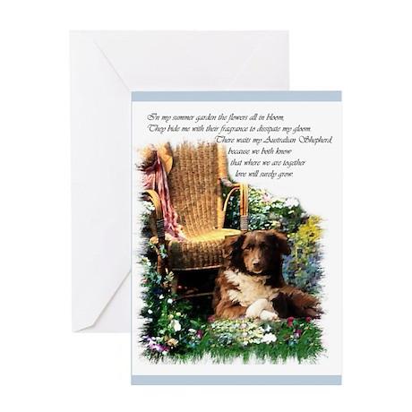 Australian Shepherd Art Greeting Card