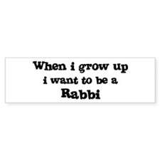 Be A Rabbi Bumper Bumper Sticker
