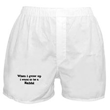 Be A Rabbi Boxer Shorts