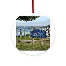 Custom Round OrnamentHarbor Springs Marina