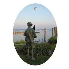 Custom Oval Ornament Harbor Springs