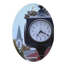 Custom Oval Ornament Harbor Springs Clock