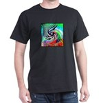 Miracles Happen (Color Wave) Black T-Shirt