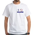 Bulldog White T-Shirt