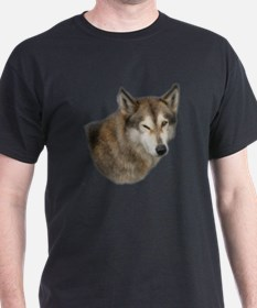 Winking Dog Black T-Shirt